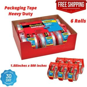 Strong Adhesive Scotch Shipping Packaging Tape 1 88 X 800 6rolls Free Shipping