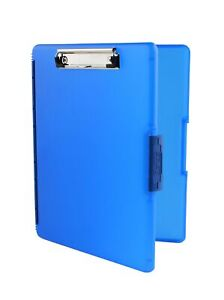 Dexas 3517 j2728 Slimcase 2 Storage Clipboard With Side Opening Royal Blue