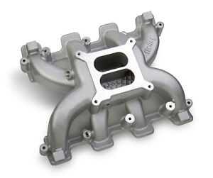 Holley 300 130 Lsx Dual Plane Mid rise Cathedral Intake Manifold Ls1 Ls2 Ls6