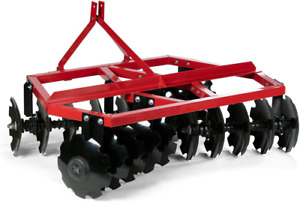 Titan Attachments 4 Ft Notched Disc Harrow Plow Category 1 3 Point For Kubota
