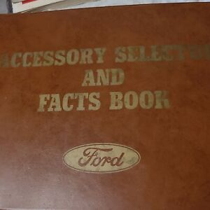 1963 Ford Accessory Selector And Facts Book Galaxie Fairlane Falcon T bird Van