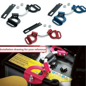 Car Adjustable Battery Hold Down Kit Clamp Bracket Bolts For Subaru Toyota