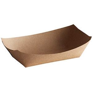 Lightweight Disposable Paper Food Tray 1lb Eco Friendly Versatile Brown Color
