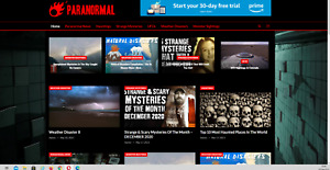 Paranormal News Website Affiliate Product Website 100 Automated