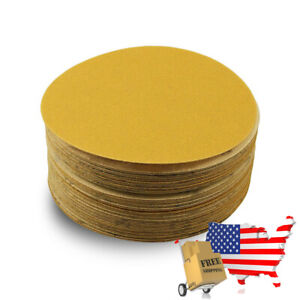 6 Inch Professional Gold Hook And Loop Sand Paper Discs 50pc 180 Grit Like 3m