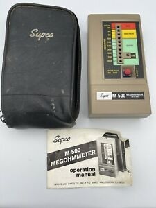 Supco M 500 Megohmmeter Insulation Tester With Soft Case Tested A5