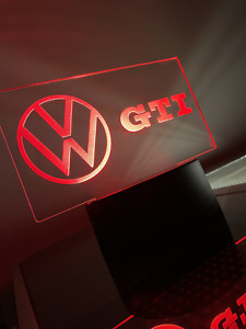 Personalized Gti Vw Logo Led Sign
