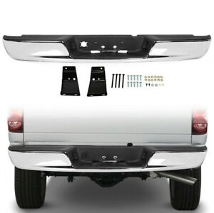 New Chrome Rear Step Bumper Steel Assembly For 03 09 Dodge Ram 1500 2500 3500