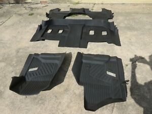 Cadillac Escalade Oem 3 Full Row Floor Liner Mats Black