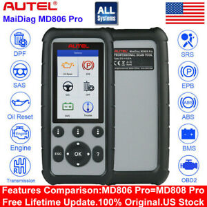 Autel Maxicheck Pro Md806 Pro Obd2 Car Auto Diagnostic Tool Code Readers Abs Dpf