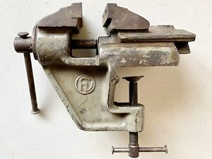 Rare Nice Vintage German Watchmaker Jewelry Bench Vise 2 3 8 Jaws With Clamp