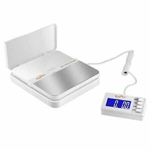 Weighmax 130lb X0 1oz Extended Display Digital Shipping Postal Scale White