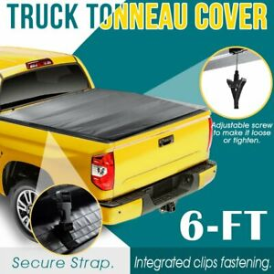 Soft Bed For 05 19 Nissan Frontier 4 Fold Truck 6 Ft Adjustable Tonneau Cover