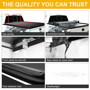 Tonneau Cover 4 fold 5 8 Ft Soft Bed Truck For 14 18 Chevy Silverado 1500 gmc