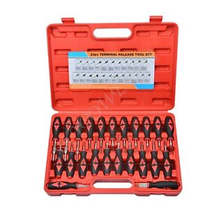 23 Pcs Car Universal Terminal Release Removal Tools Pin Set For Bmw Ford Vw Set