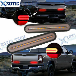 For Dodge Ram 5 modes Amber Red Led Sequential Turn Signal Tail Brake Light Bar