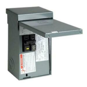 Square D Spa Panel Main Lug Load Center 50 Amp 2 space 4 circuit Steel Outdoor