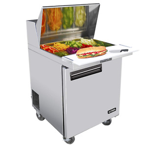 Kitma Single Door 28 Inches Sandwich Prep Cooler 7 15 Cu Ft Stainless Steel S
