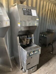 Pitco Fryer W Giles Ventless Hood Fire Suppression Oil Filter System 3 Ph