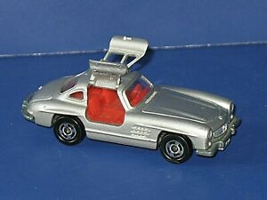 Vintage Tomy Tomica Silver Mercedes Benz 300sl Gullwing 1 63 Scale Japan