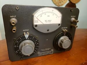 General Radio 546 c Audio frequency Microvolter attenuator voltage Divider