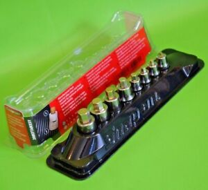 Brand New Snap On Tools 8pc Stubby Hex Bit Allen Key Socket Driver Set In Tray