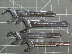 Armstrong 4pc Thin Open End Water Pump Wrench Set 3 3 1 1 1 8 1 3 16 Nice