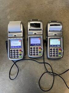 3 First Data Fd 400gt Wireless Terminal Credit Card Machines With 2 Power Cords