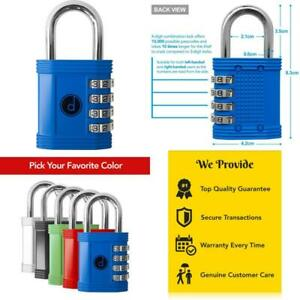 Padlock 4 Digit Combination Lock For Gym Sports School Employee Locker Ou