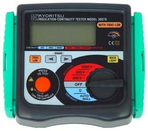 Kyoritsu 3007a Digital Insulation continuity Tester With Backlight 600v