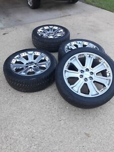 Gmc Denali Wheels 22 Inch 2017 Sierra Oem Original Tires Gm Set 4