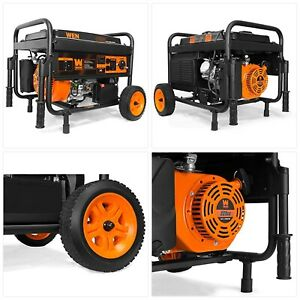 Wen 56 watt Portable Generator With Electric Start And Wheel Kit