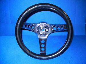 Vintage 10 The 500 Rubber Steering Wheel Superior Performance Hot Rod Clean