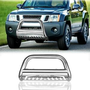 For 2005 2016 Nissan Frontier pathfinder Stainless Bull Bar Bumper Grille Guard