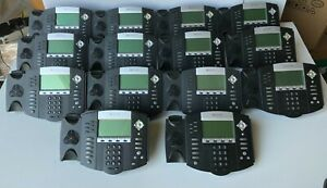 Lot Of 14 Polycom Soundpoint Ip 650 2201 12630 001 Voip Phones