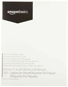 Amazon Basics Easy Cover Shipping Address Labels For Laser inkjet Printers W