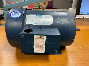 Leeson 2 Hp Electric Motor F56h Frame 1125 Rpm 3 Phase 208 230 Vac 113026 00