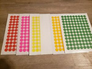 648 Removable Blank Garage Yard Sale Stickers Labels Price Tags 6 Colors Sale