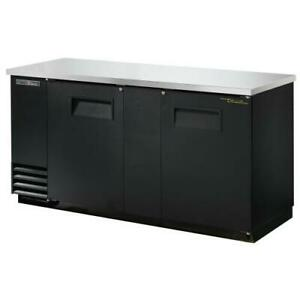 True Tbb 3 hc 69 In Back Bar Cooler W 2 Solid Swing Doors