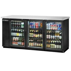 True Tbb 24 72g hc ld 73 In Back Bar Cooler W 3 Glass Swing Doors