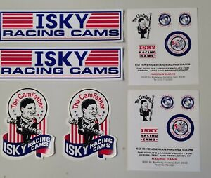 Nos Isky Racing Cams Sticker Lot Ed Iskenderian 70 s 80 s Hot Rod Drag Racing