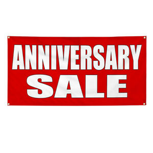Vinyl Banner Multiple Sizes Anniversary Sale Promotion Business Outdoor