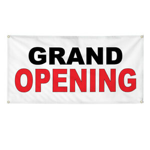Vinyl Banner Multiple Sizes Grand Opening Black Red Business Outdoor