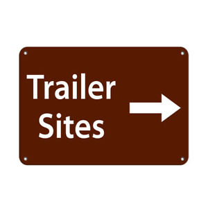 Horizontal Metal Sign Multiple Sizes Trailer Sites Right Arrow Activity