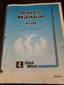 Ditch Witch R100 Vp75 Parts Manuals