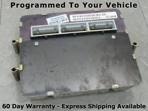 98 Jeep Grand Cherokee Zj 4 0 Ecu Ecm Pcm Engine Computer 56044514ab 514 Prog 81