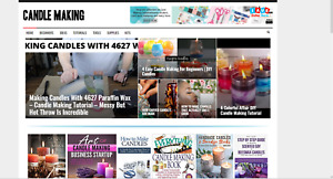 Candle Making News Guides affiliate Income Website 100 Automated