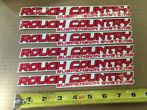 Rough Country Shock Stabilizer Decal Sticker 6 Piece