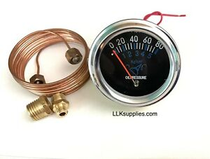 2 Mechanical Oil Pressure Gauge With Copper Oil Line Tubing Racing