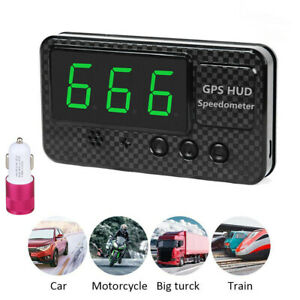 Universal Digital Car Auto Gps Mph km h Hud Display Speedometer For Motorcycle
